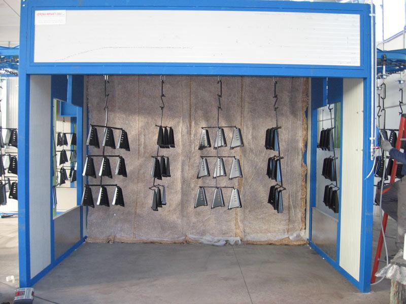 Plafoniere Per Cabine Di Verniciatura : Cabine di verniciatura a spruzzo con sistema filtrazione secco